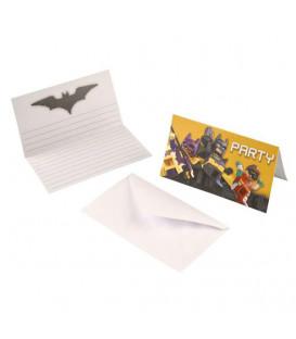 Inviti Lego - Batman 14 x 8 cm 8 Biglietti 8 Buste