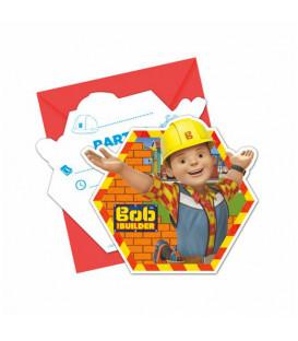 Inviti BOB AGGIUSTATUTTO 14 x 8,5 cm 6 Biglietti 6 Buste