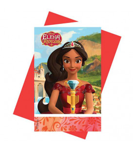 Inviti Elena of Avalor 14 x 8,5 cm 6 Pz