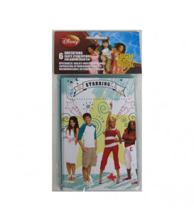Inviti HIGH SCHOOL MUSICAL 14 x 9 cm 6 Biglietti 6 Buste