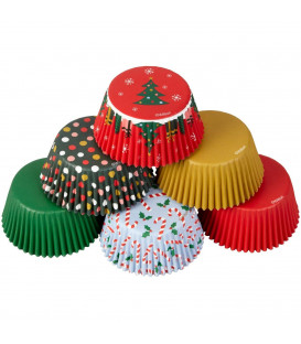 Cupcake Pirottini Traditional Holiday 150 Pz Wilton
