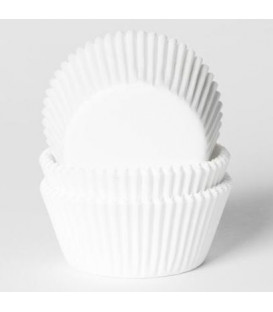 Cupcake Pirottini Bianco 500 Pz House of Marie