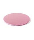 Sottotorta Vassoio Rigido Tondo Rosa H 1,2 cm
