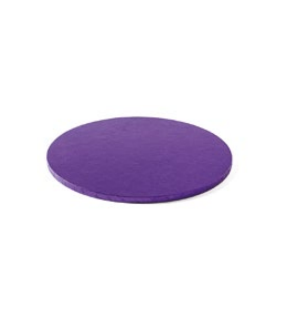 Sottotorta Vassoio Rigido Tondo Viola H 1,2 cm