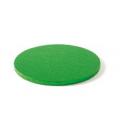 Sottotorta Vassoio Rigido Tondo Verde H 1,2 cm
