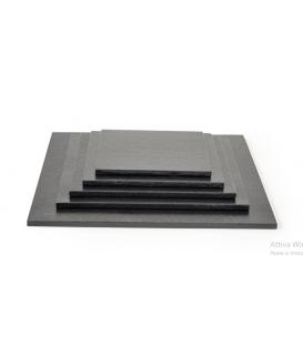 Sottotorta Vassoio Rigido Quadrato Nero H 1,2 cm