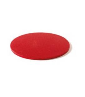 Sottotorta Vassoio Rigido Tondo Rosso H 1,2 cm