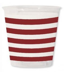 Bicchieri di Plastica Navy Rosso 300 cc