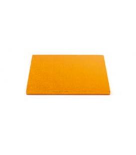 Sottotorta Vassoio Rigido Quadrato Arancione H 1,2 cm