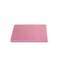 Sottotorta Vassoio Rigido Quadrato Rosa H 1,2 cm