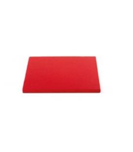 Sottotorta Vassoio Rigido Quadrato Rosso H 1,2 cm