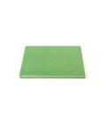 Sottotorta Vassoio Rigido Quadrato Verde Chiaro H 1,2 cm