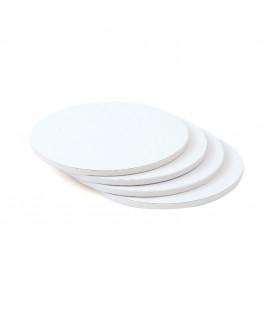 Sottotorta Vassoio Rigido Tondo Bianco H 1,2 cm