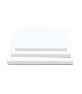 Sottotorta Vassoio Rigido Quadrato Bianco H 1,2 cm
