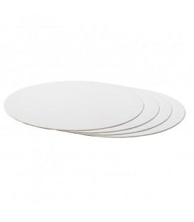 Sottotorta Vassoio Rigido Tondo Sottile Bianco H 3 mm