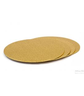 Sottotorta Vassoio Rigido Tondo Sottile Oro H 3 mm