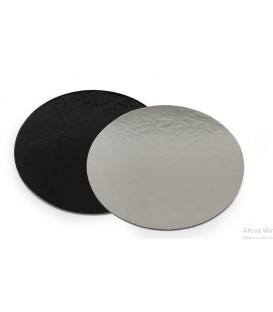 Sottotorta - Vassoio Tondo Double Face Nero - Argento H 3 mm - 1 pz