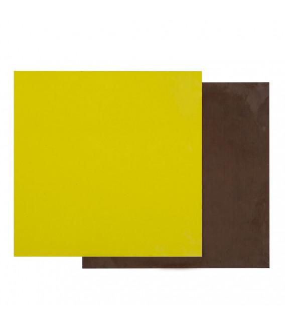 Sottotorta - Vassoio Quadrato Double Face Marrone - Verde Lime H 0,3 cm 1 pz