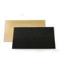 Sottotorta - Vassoio Rettangolare Double Face Oro - Nero H 3 mm 1 pz