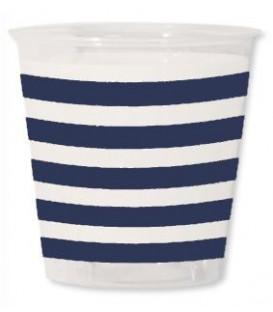 Bicchieri di Plastica Navy Blu 300 cc