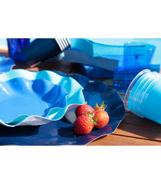 Bicchieri di Plastica Blu Cobalto 300 cc