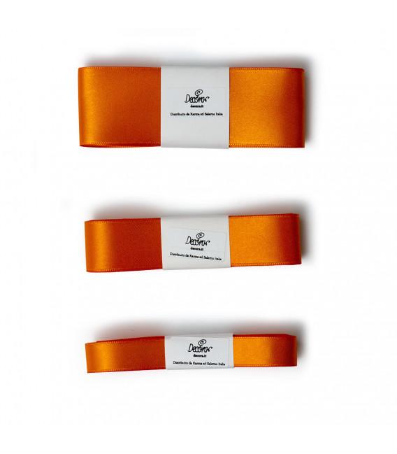 Nastro a Matassina Doppio Raso Arancione 15 mm x 5 mt