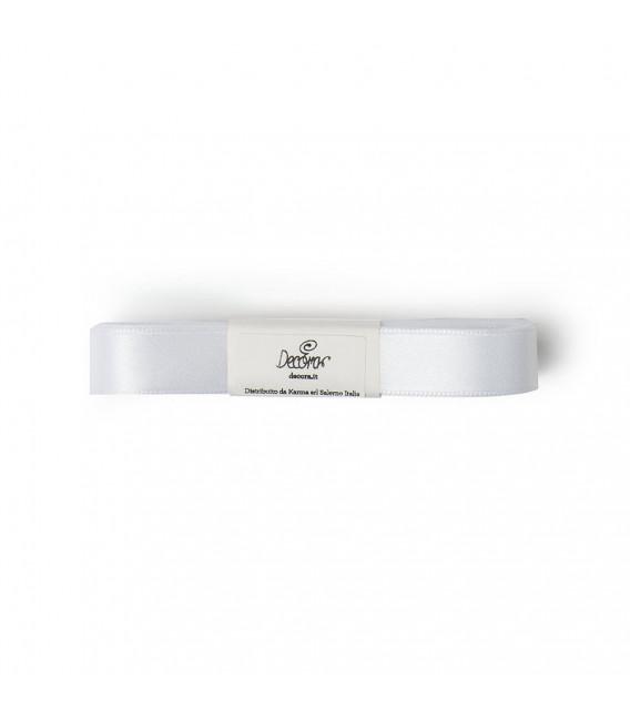 Nastro a Matassina Doppio Raso Bianco 15 mm x 5 mt