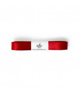 Nastro a Matassina Doppio Raso Rosso 15 mm x 5 mt