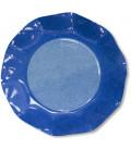 Piatti Piani di Carta a Petalo Bicolore Turchese - Blu Cobalto