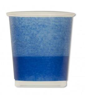 Bicchieri di Plastica PPL Bicolore Turchese - Blu Cobalto 250 cc