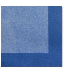 Tovaglioli 3 Veli Bicolore Turchese - Blu Cobalto