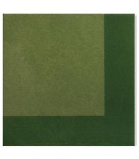 Tovaglioli 3 Veli Bicolore Verde - Verde Scuro 33x33 cm 3 confezioni