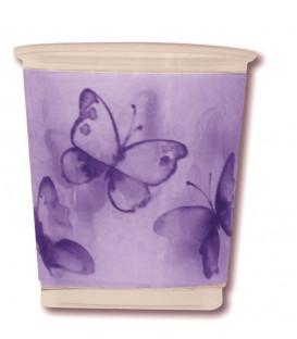 Bicchieri di Plastica PPL Farfalla Viola 250 cc