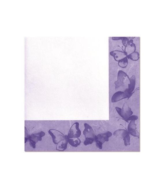 Tovaglioli 3 Veli Farfalla Viola 33x33 cm 3 confezioni
