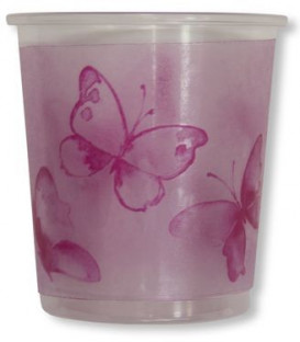 Bicchieri di Plastica PPL Farfalla Rosa 250 cc 3 confezioni