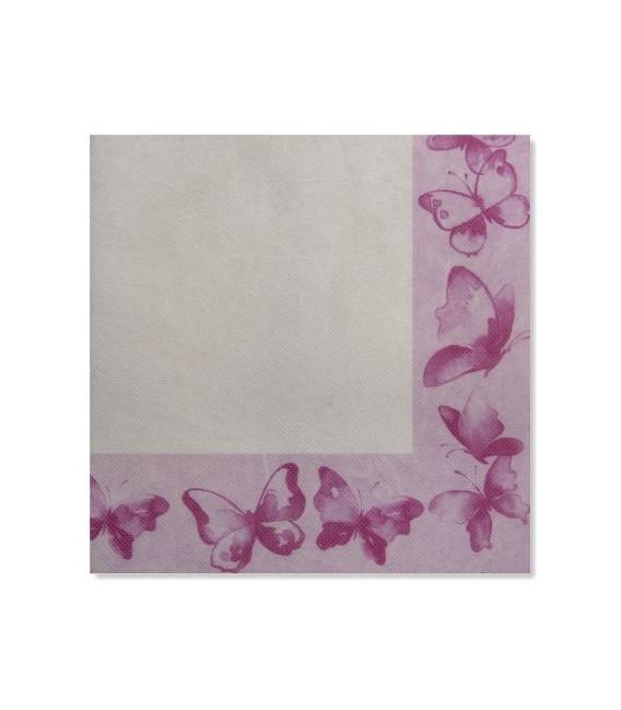 Tovaglioli 3 Veli Farfalla Rosa 3 confezioni