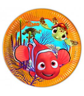 Piatto Piano Piccolo di Carta 20 cm Alla Ricerca di Nemo Disney Pixar