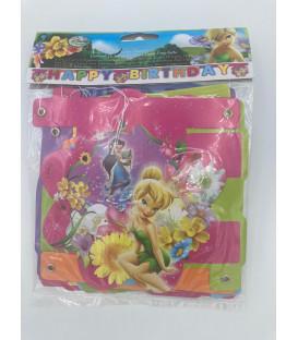 Festone lettere Buon compleanno Fairies Springtime Disney