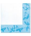 Tovaglioli 3 Veli Farfalla Turchese 33x33 cm 3 confezioni