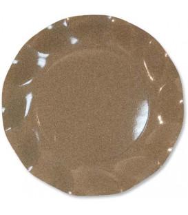 Piatti Piani di Carta a Petalo Sabbia Medio 21 cm