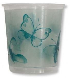 Bicchieri di Plastica Farfalla Verde 250 cc