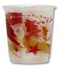 Bicchieri di Plastica PPL Stella Rossa/Stella oro 250 cc
