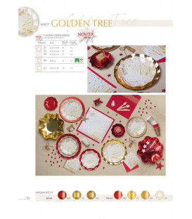 Piatti Piani di Carta Compostabili Golden Tree 27 cm