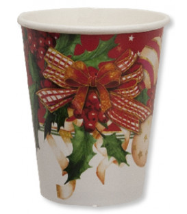 Bicchieri Compostabili Christmas Decoration 250 cc