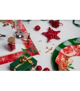 Tovaglioli Compostabili Christmas Decoration 33 x 33 cm