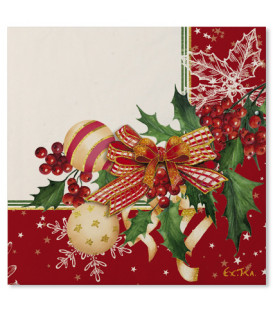 Tovaglioli 3 Veli Christmas Decoration 33x33 cm