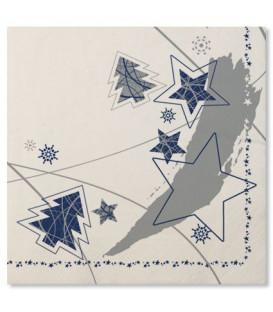 Tovaglioli Stella Blu 33 x 33 cm 3 confezioni