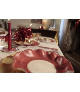 Piatti Piani di Carta a Petalo Natale Galaxy 24 cm