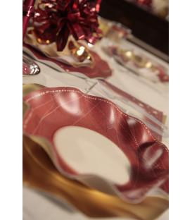 Piatti Fondi di Carta a Petalo Natale Galaxy 24 cm
