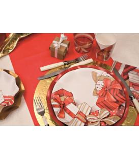 Piatti Piani di Carta a Petalo Natale Christmas Gift 27 cm